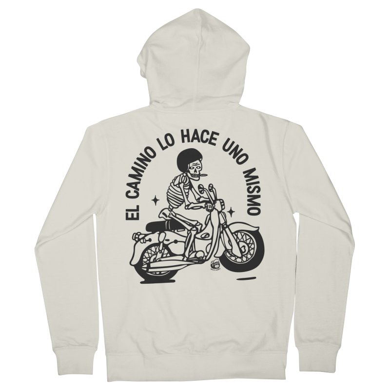 EL CAMINO WHITE Women's Zip-Up Hoody by Mico Jones Artist Shop