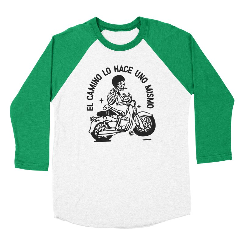 EL CAMINO WHITE Women's Baseball Triblend Longsleeve T-Shirt by Mico Jones Artist Shop