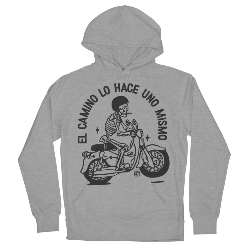 EL CAMINO WHITE Women's French Terry Pullover Hoody by Mico Jones Artist Shop