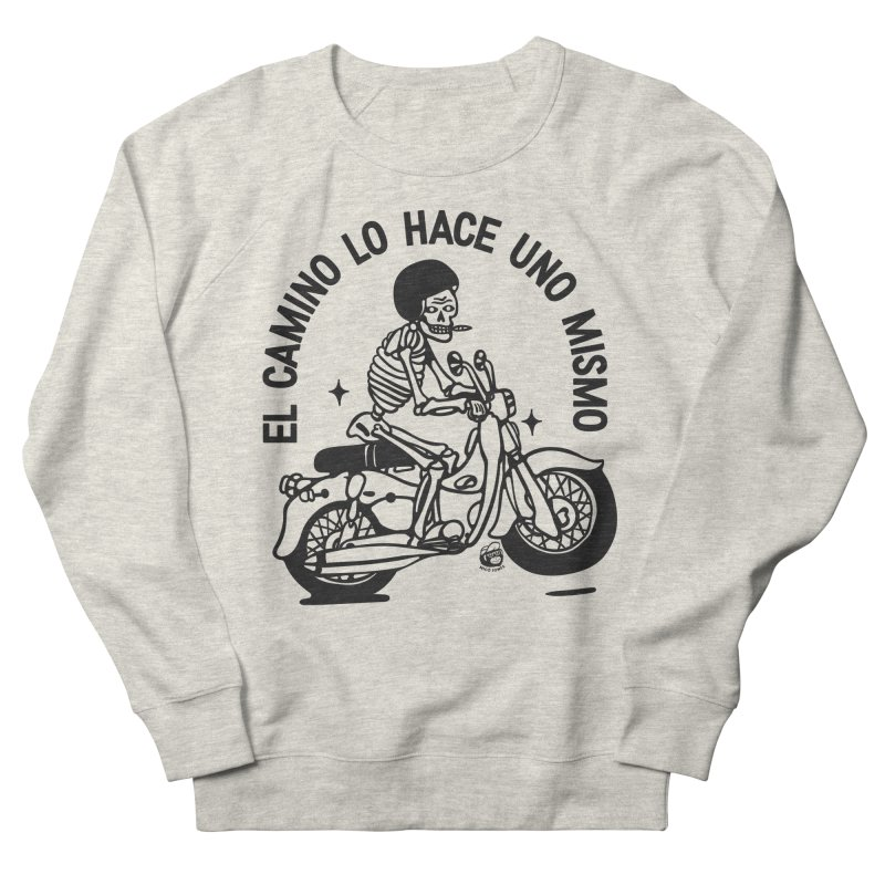 EL CAMINO WHITE Women's French Terry Sweatshirt by Mico Jones Artist Shop