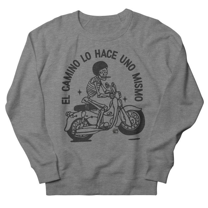 EL CAMINO WHITE Men's French Terry Sweatshirt by Mico Jones Artist Shop