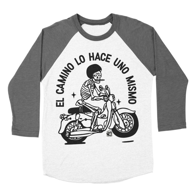 EL CAMINO WHITE Men's Baseball Triblend Longsleeve T-Shirt by Mico Jones Artist Shop