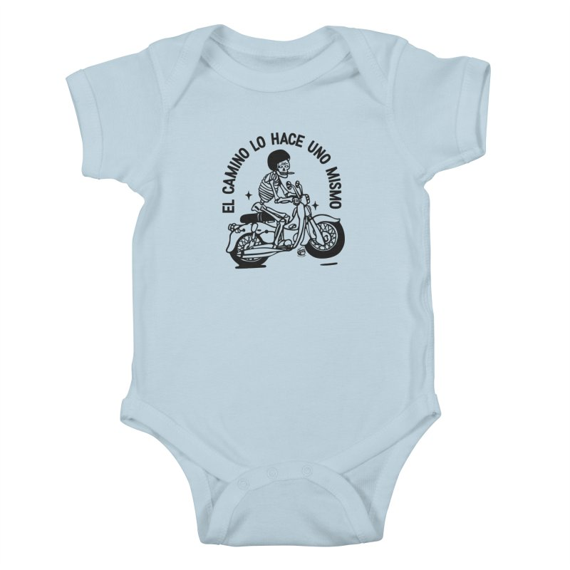 EL CAMINO WHITE Kids Baby Bodysuit by Mico Jones Artist Shop