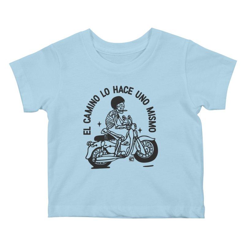 EL CAMINO WHITE Kids Baby T-Shirt by Mico Jones Artist Shop