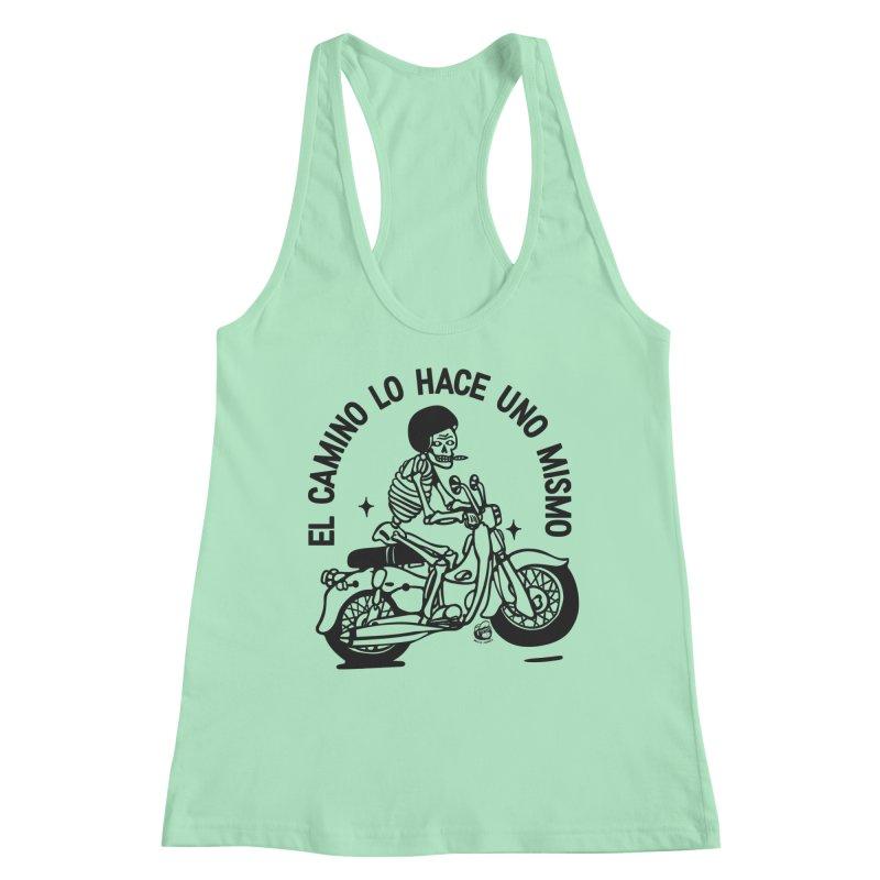 EL CAMINO WHITE Women's Racerback Tank by Mico Jones Artist Shop