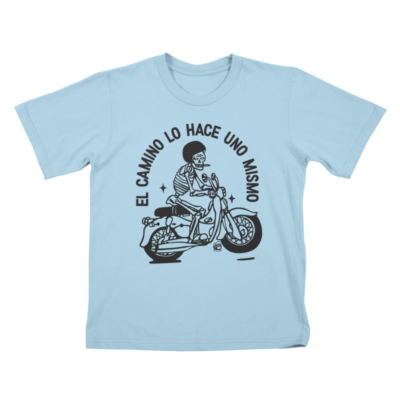 EL CAMINO WHITE Kids T-Shirt by Mico Jones Artist Shop