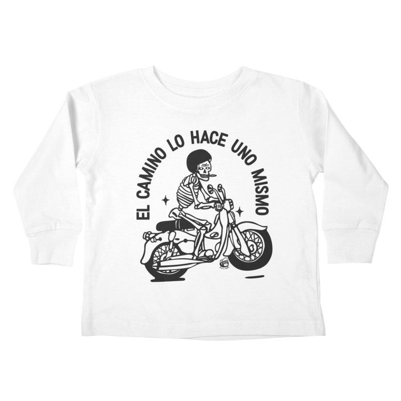 EL CAMINO WHITE Kids Toddler Longsleeve T-Shirt by Mico Jones Artist Shop