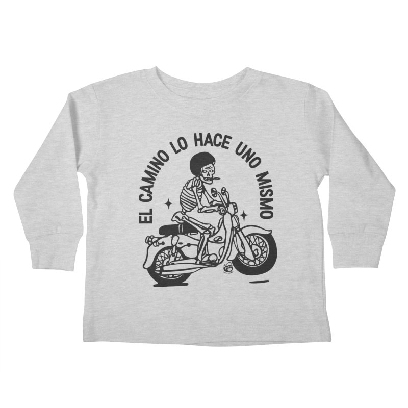 EL CAMINO WHITE Kids Toddler Longsleeve T-Shirt by Mico Jones Artist Shop