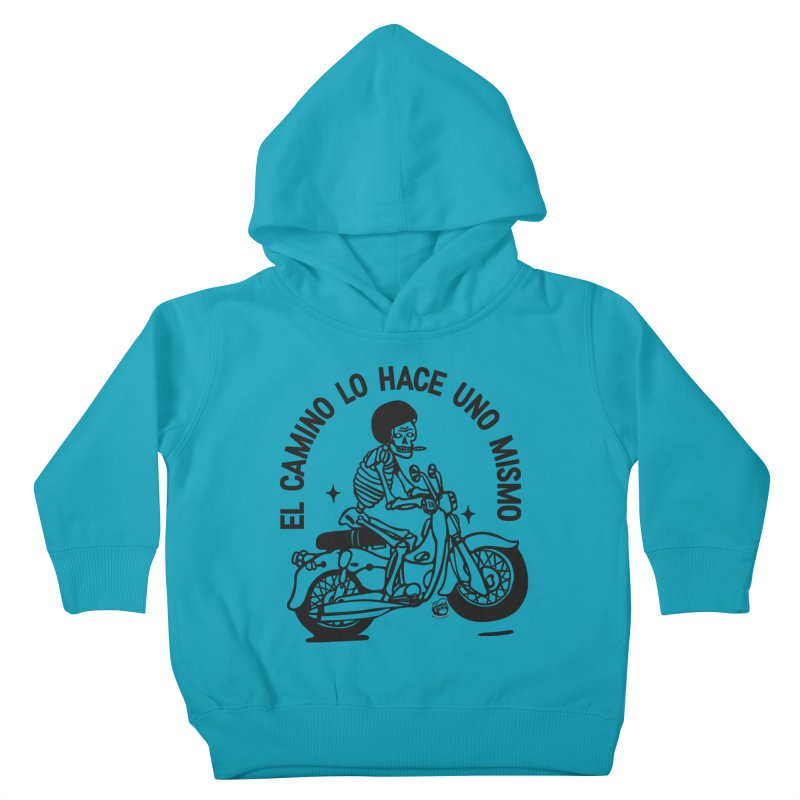 EL CAMINO WHITE Kids Toddler Pullover Hoody by Mico Jones Artist Shop