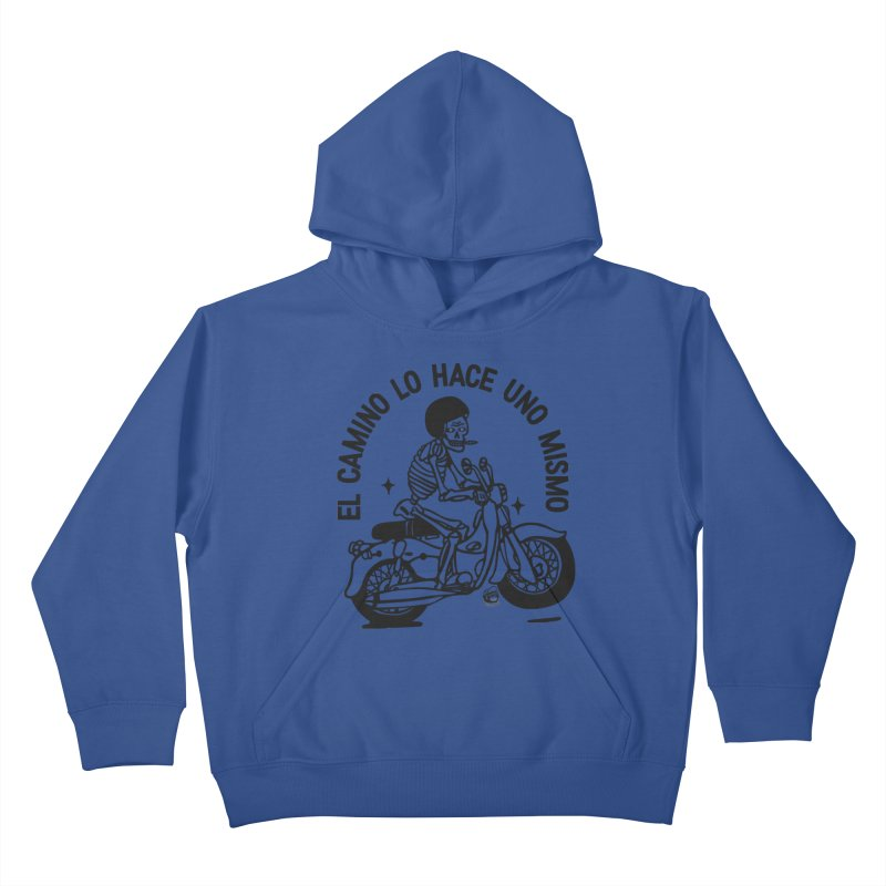 EL CAMINO WHITE Kids Pullover Hoody by Mico Jones Artist Shop