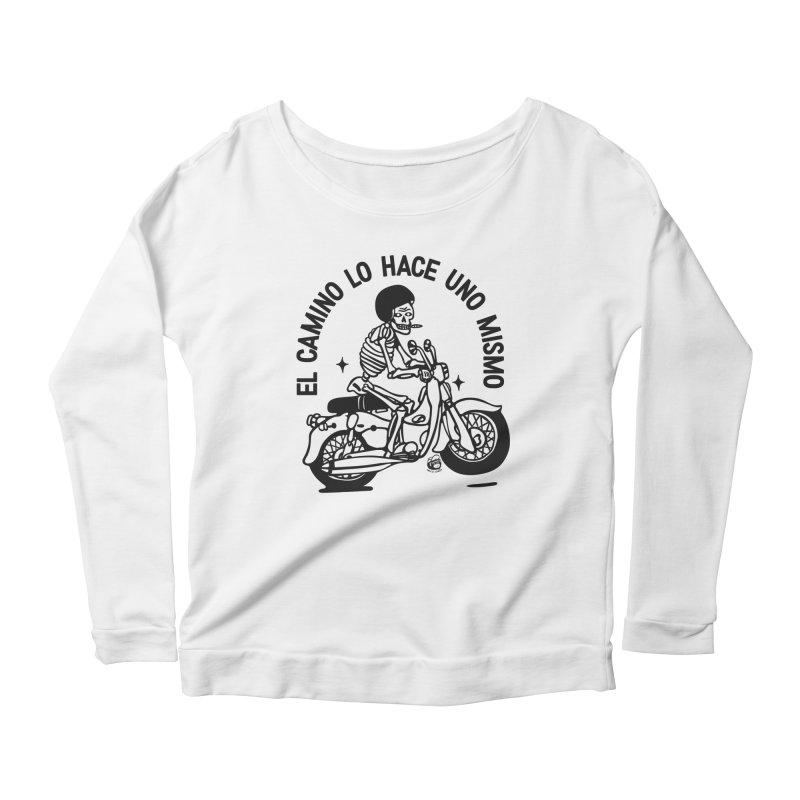 EL CAMINO WHITE Women's Scoop Neck Longsleeve T-Shirt by Mico Jones Artist Shop