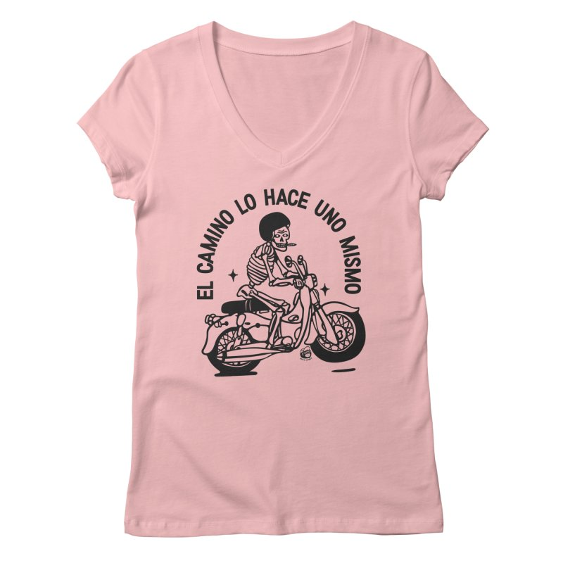 EL CAMINO WHITE Women's V-Neck by Mico Jones Artist Shop
