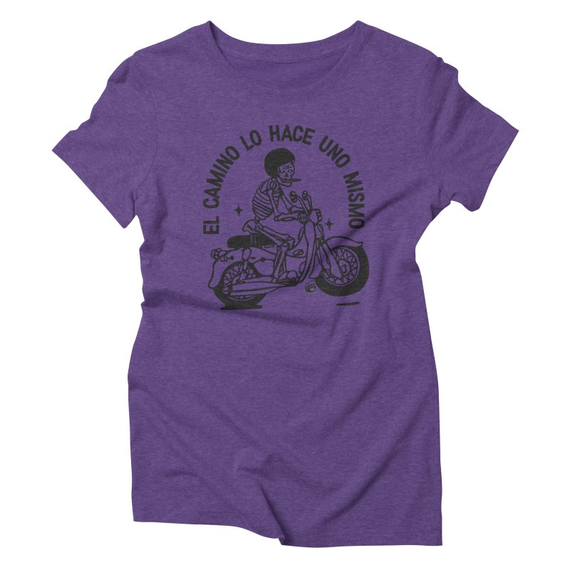 EL CAMINO WHITE Women's Triblend T-Shirt by Mico Jones Artist Shop