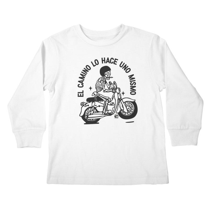 EL CAMINO WHITE Kids Longsleeve T-Shirt by Mico Jones Artist Shop