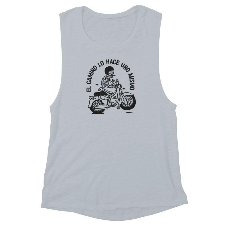 EL CAMINO WHITE Women's Muscle Tank by Mico Jones Artist Shop