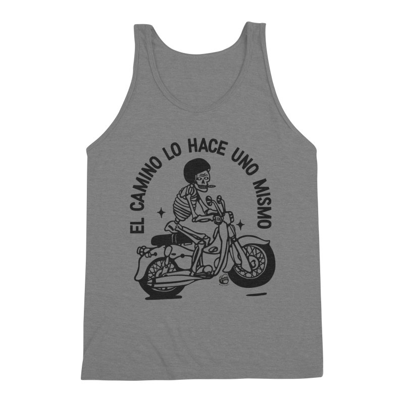 EL CAMINO WHITE Men's Triblend Tank by Mico Jones Artist Shop