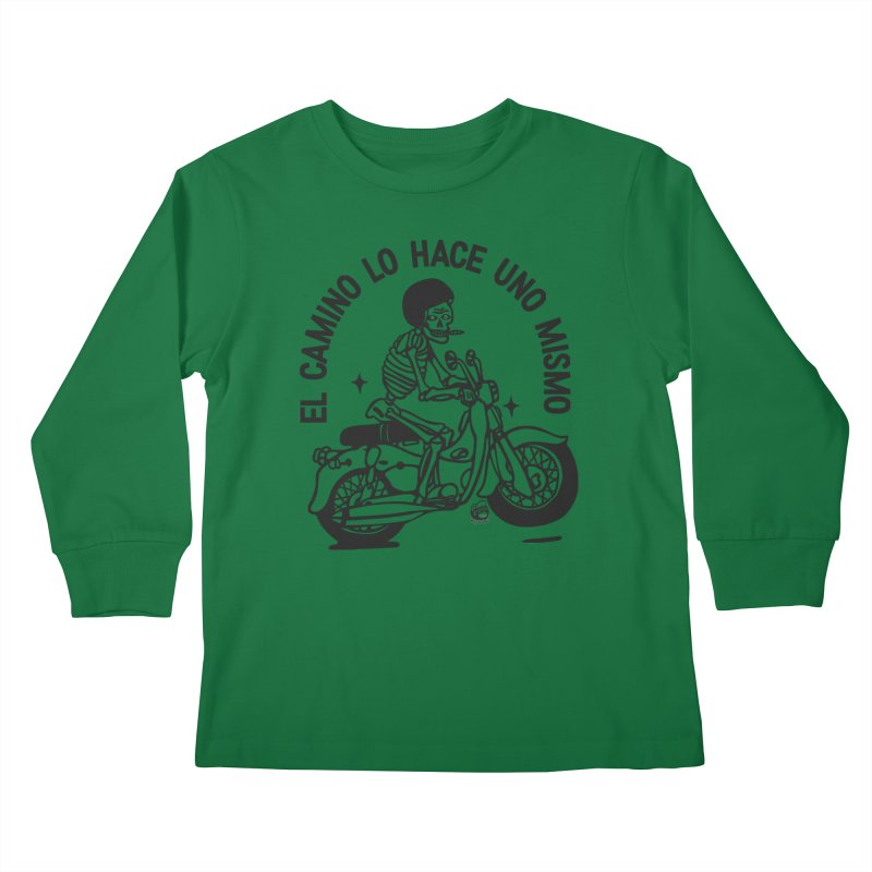 EL CAMINO WHITE Kids Longsleeve T-Shirt by Mico Jones Artist Shop