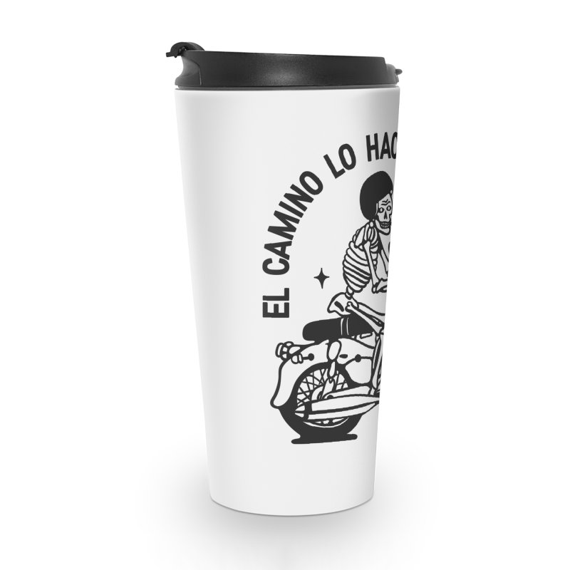 EL CAMINO WHITE Accessories Travel Mug by Mico Jones Artist Shop