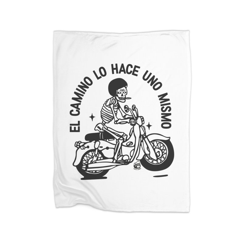 EL CAMINO WHITE Home Fleece Blanket Blanket by Mico Jones Artist Shop