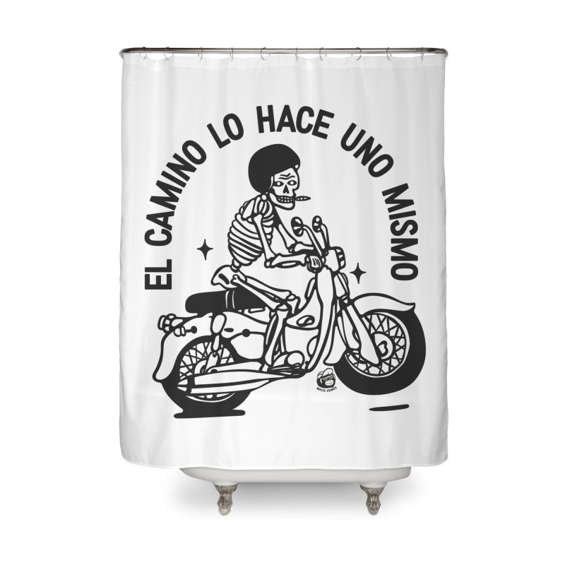 EL CAMINO WHITE Home Shower Curtain by Mico Jones Artist Shop