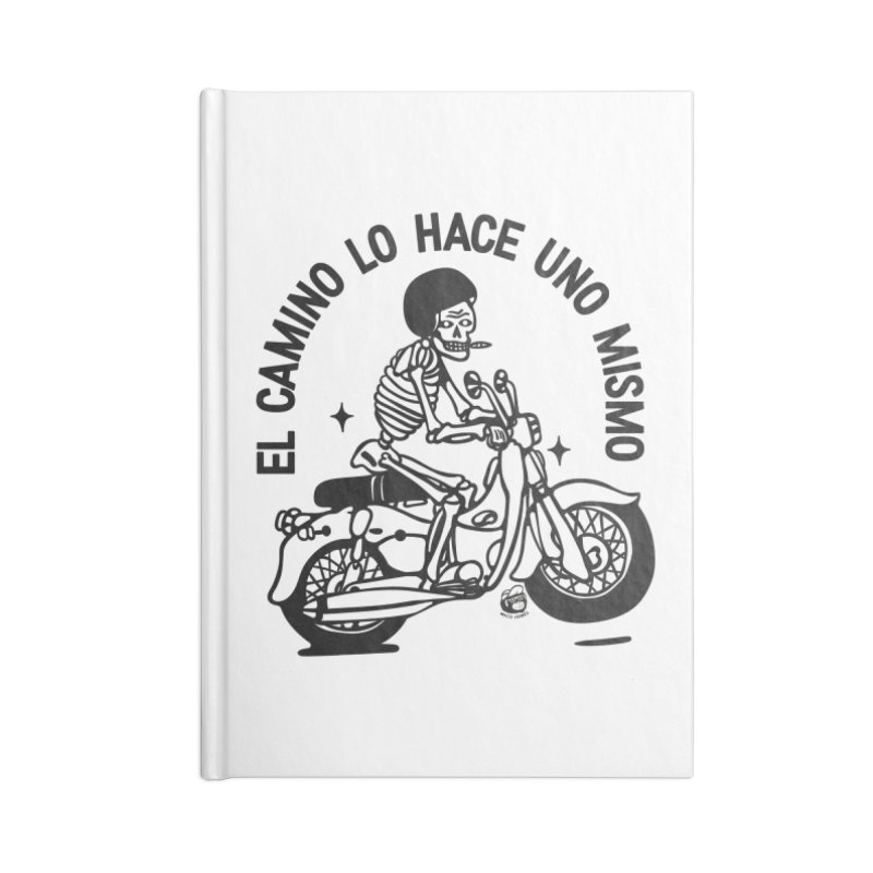 EL CAMINO WHITE Accessories Lined Journal Notebook by Mico Jones Artist Shop