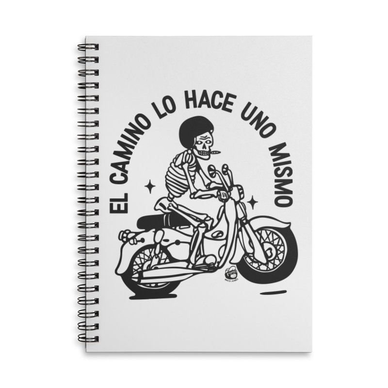 EL CAMINO WHITE Accessories Lined Spiral Notebook by Mico Jones Artist Shop
