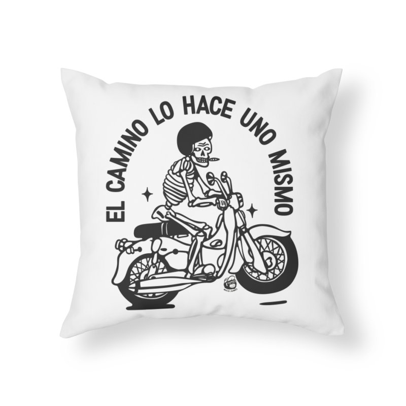 EL CAMINO WHITE Home Throw Pillow by Mico Jones Artist Shop