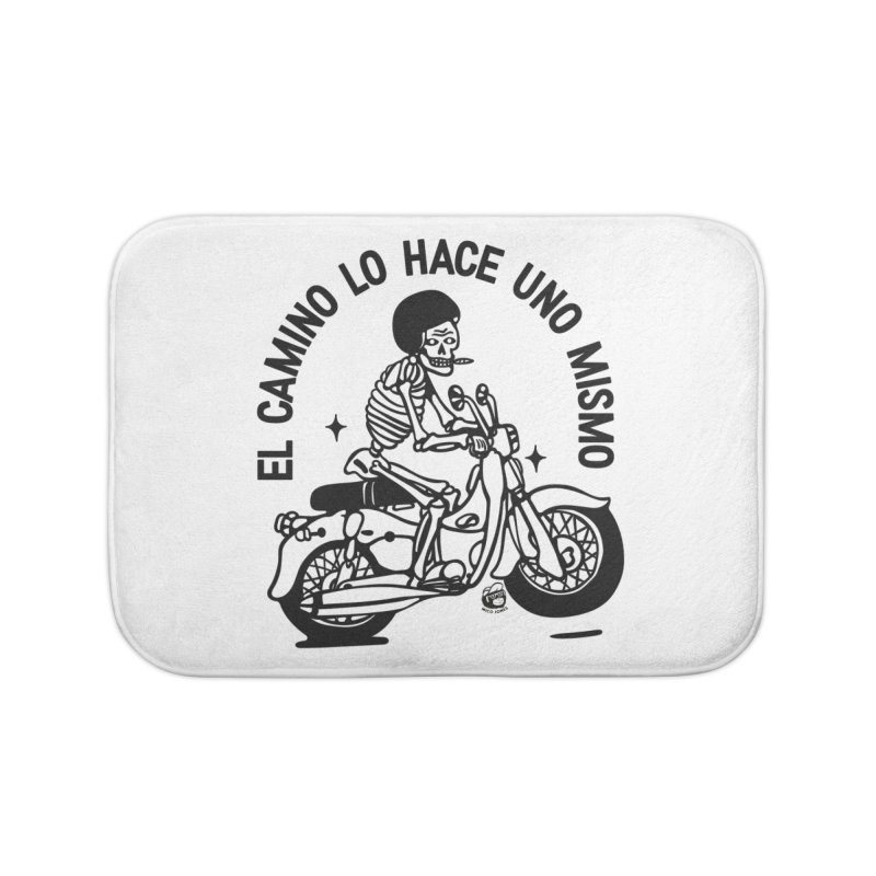 EL CAMINO WHITE Home Bath Mat by Mico Jones Artist Shop