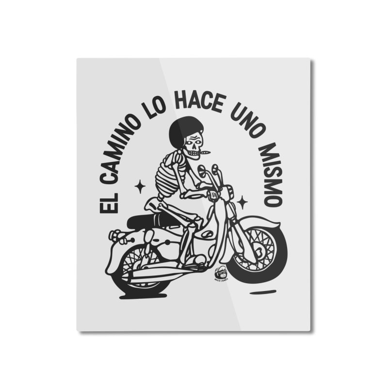 EL CAMINO WHITE Home Mounted Aluminum Print by Mico Jones Artist Shop