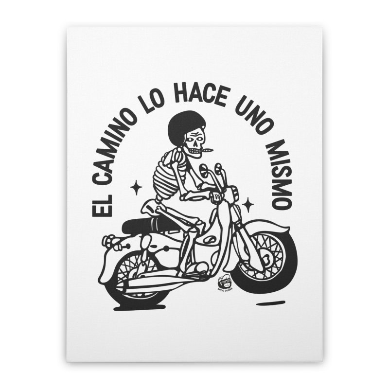 EL CAMINO WHITE Home Stretched Canvas by Mico Jones Artist Shop