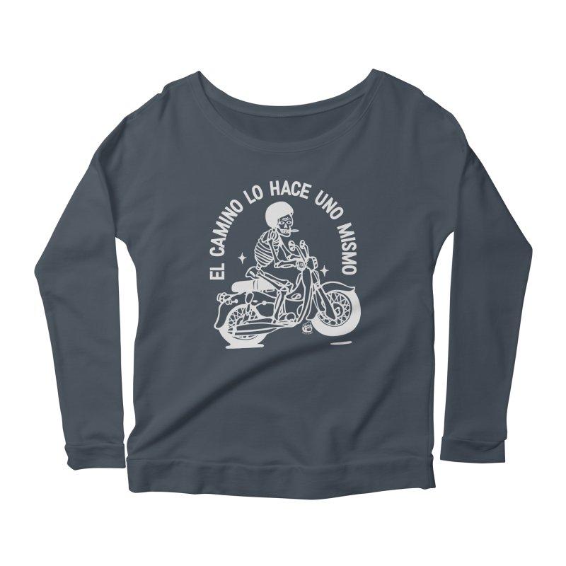 THE ROAD Women's Scoop Neck Longsleeve T-Shirt by Mico Jones Artist Shop