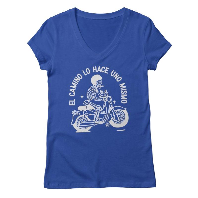 THE ROAD Women's Regular V-Neck by Mico Jones Artist Shop