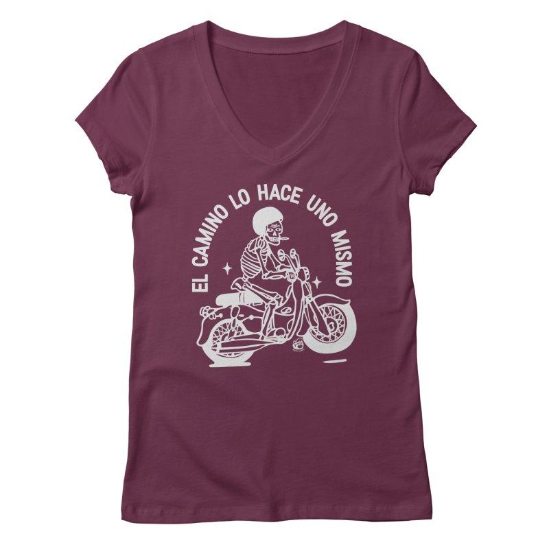 THE ROAD Women's V-Neck by Mico Jones Artist Shop