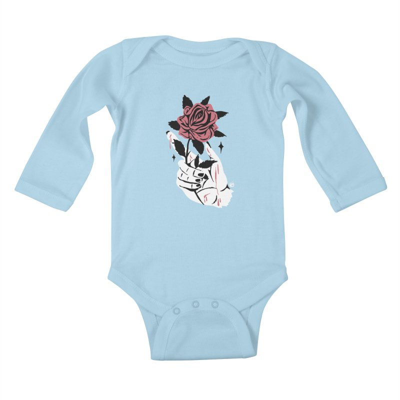 THORNS Kids Baby Longsleeve Bodysuit by Mico Jones Artist Shop