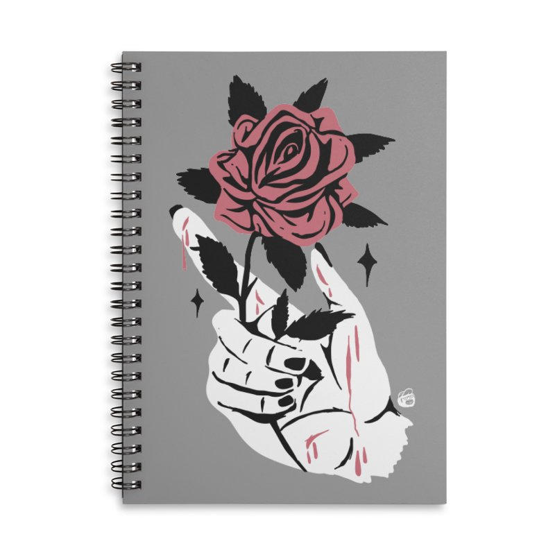 THORNS Accessories Lined Spiral Notebook by Mico Jones Artist Shop