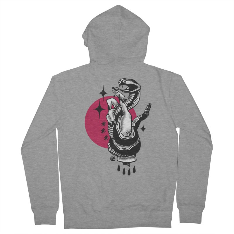 POISON Women's French Terry Zip-Up Hoody by Mico Jones Artist Shop