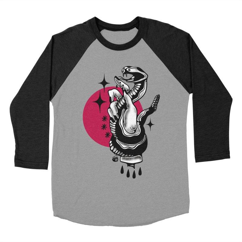 POISON Men's Baseball Triblend Longsleeve T-Shirt by Mico Jones Artist Shop