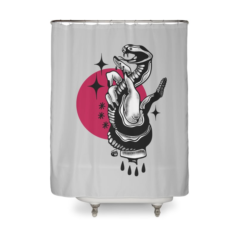 POISON Home Shower Curtain by Mico Jones Artist Shop