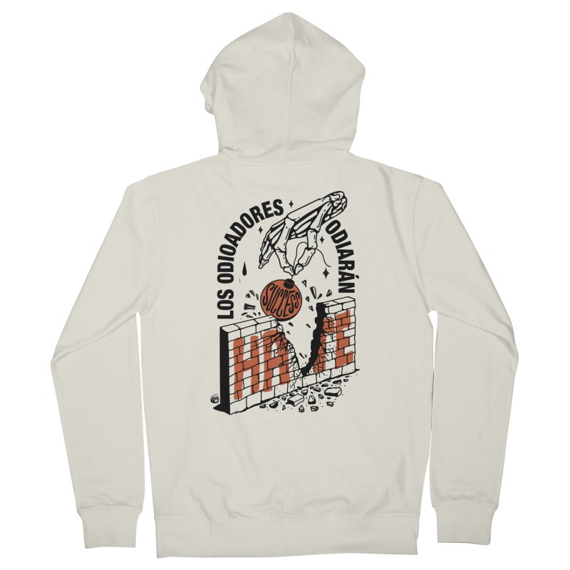 HATERS Women's Zip-Up Hoody by Mico Jones Artist Shop
