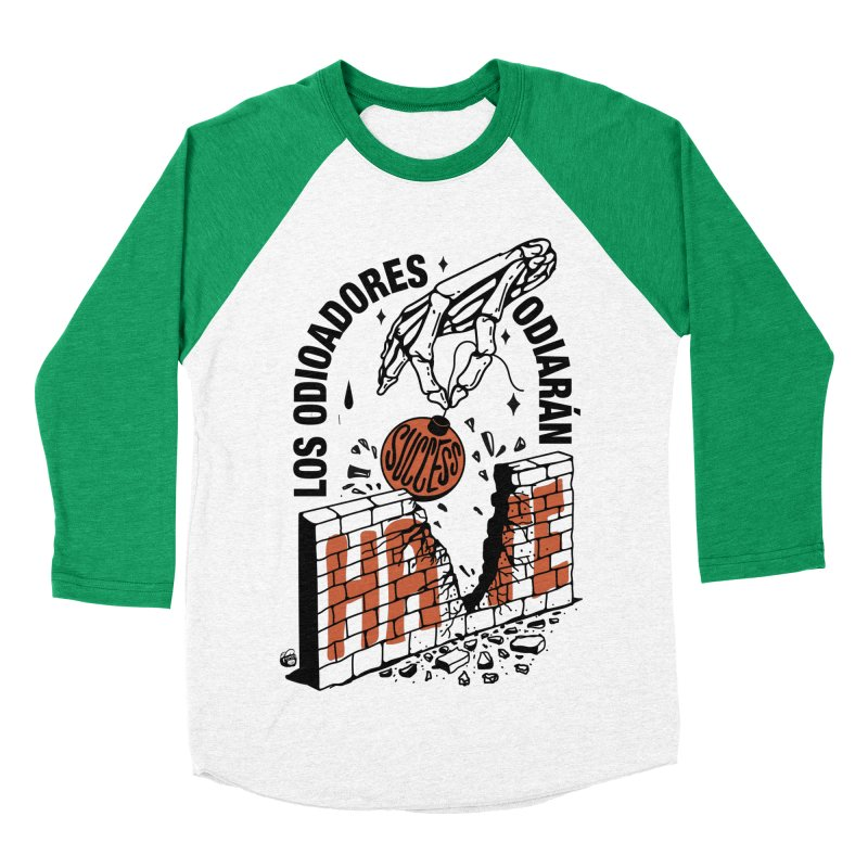 HATERS Women's Baseball Triblend Longsleeve T-Shirt by Mico Jones Artist Shop