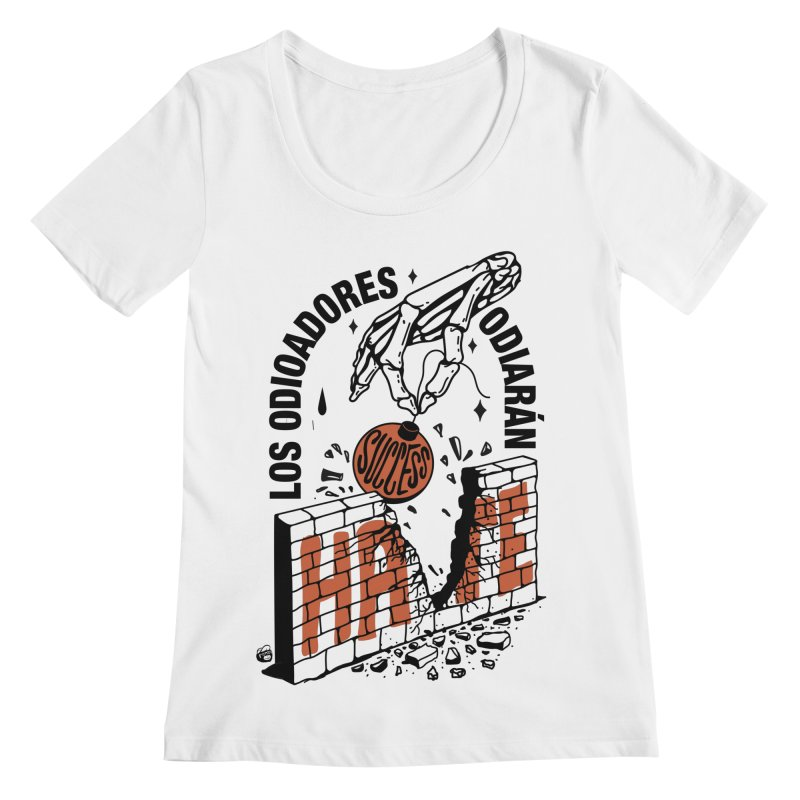 HATERS Women's Regular Scoop Neck by Mico Jones Artist Shop