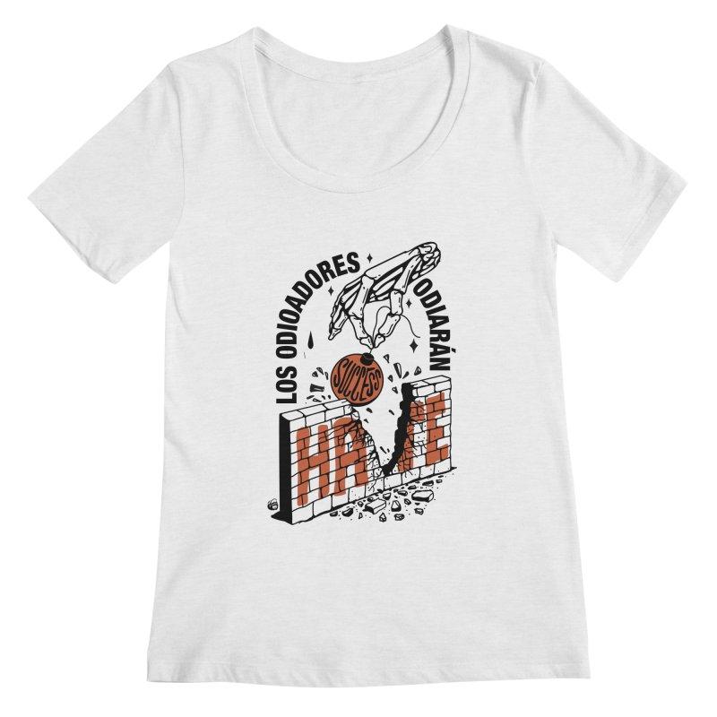 HATERS Women's Scoop Neck by Mico Jones Artist Shop