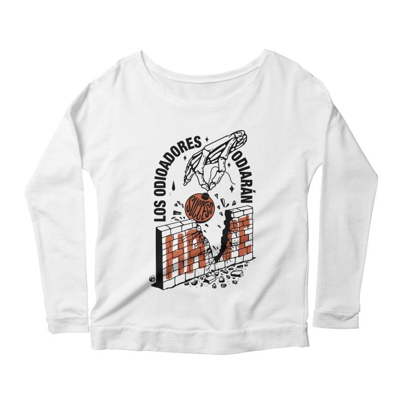 HATERS Women's Scoop Neck Longsleeve T-Shirt by Mico Jones Artist Shop