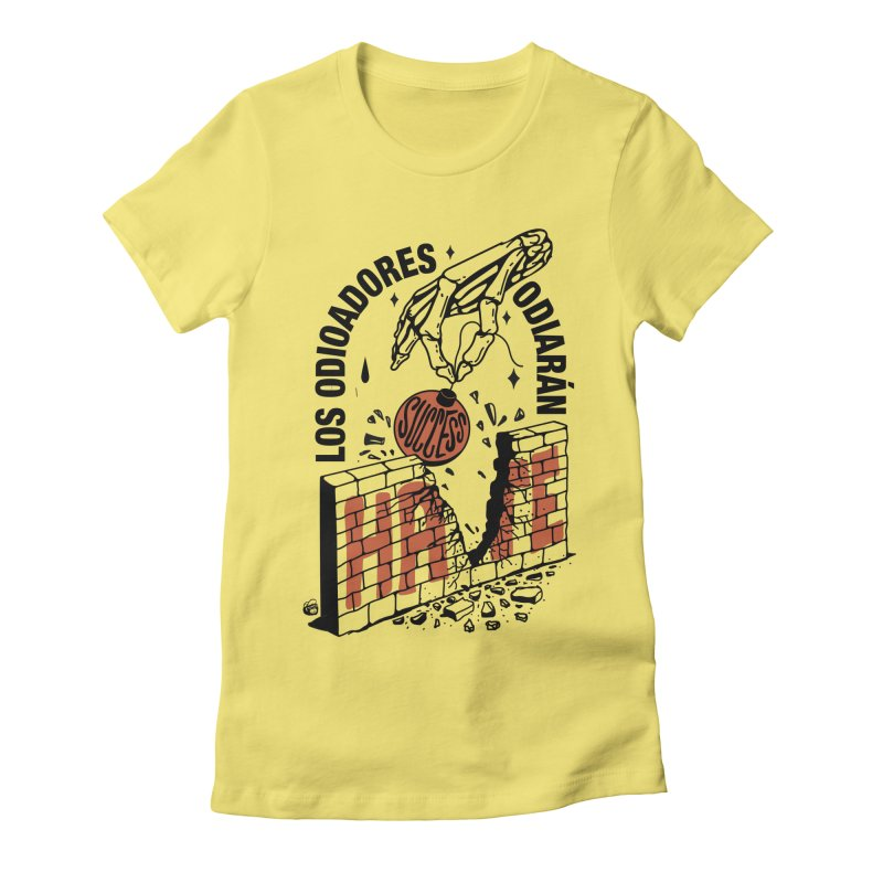 HATERS Women's Fitted T-Shirt by Mico Jones Artist Shop