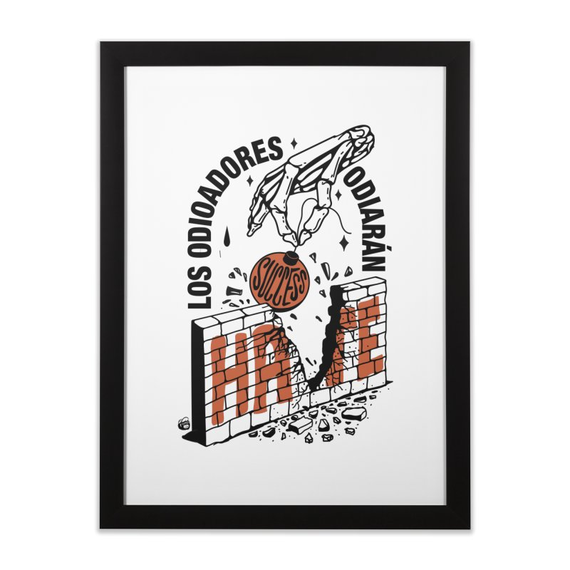 HATERS Home Framed Fine Art Print by Mico Jones Artist Shop