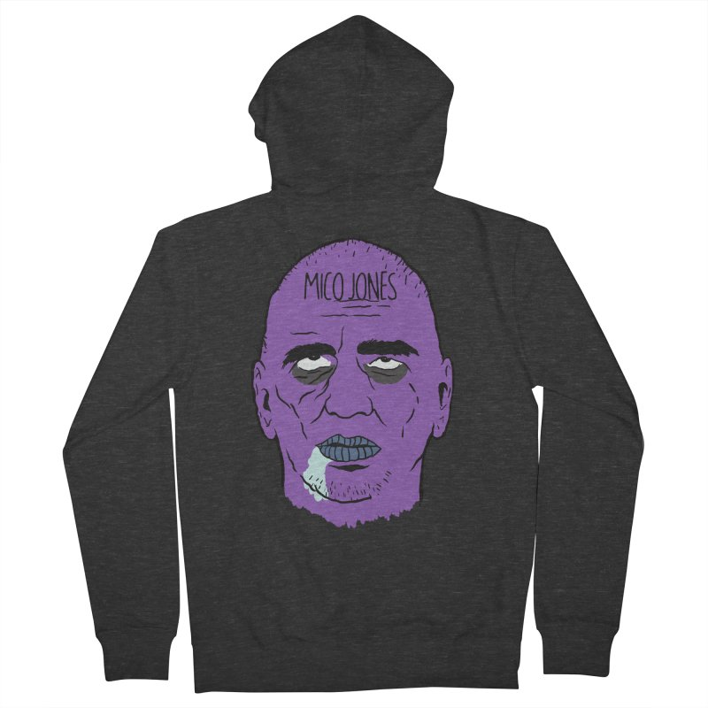 ZOMBIES, HOUSE MUSIC & PILLS Men's French Terry Zip-Up Hoody by Mico Jones Artist Shop