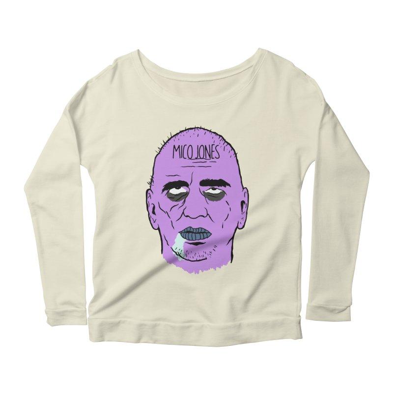 ZOMBIES, HOUSE MUSIC & PILLS Women's Scoop Neck Longsleeve T-Shirt by Mico Jones Artist Shop