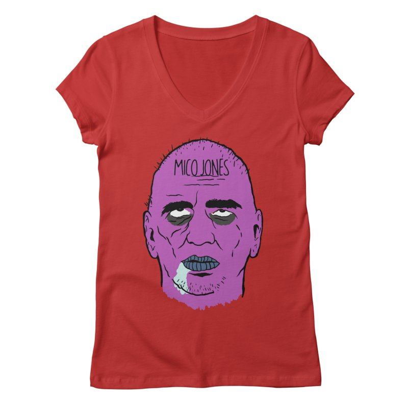ZOMBIES, HOUSE MUSIC & PILLS Women's V-Neck by Mico Jones Artist Shop