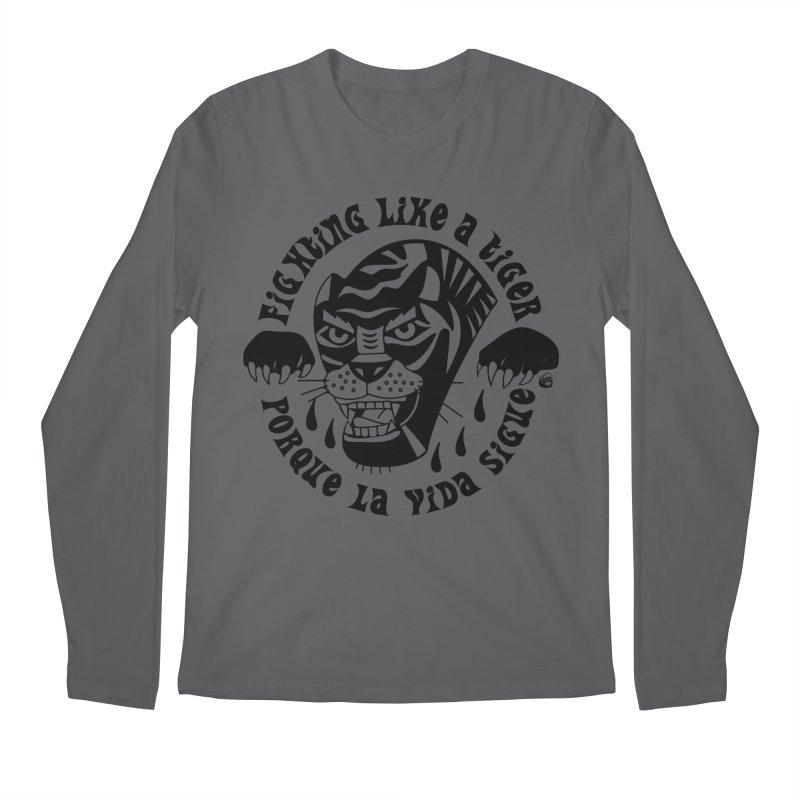 LIKE A TIGER Men's Longsleeve T-Shirt by Mico Jones Artist Shop