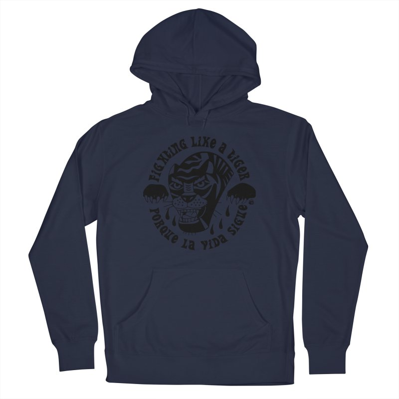 LIKE A TIGER Men's Pullover Hoody by Mico Jones Artist Shop